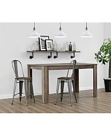 EveryRoom Lainey 24 inch Metal Counter Stool
