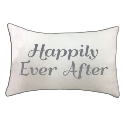 """Celebrations Pillow Embroidered """"Happily Ever After"""""""