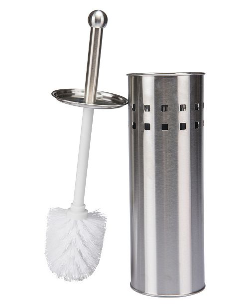 Bath Bliss Stainless Steel Toilet Brush with Air Vents
