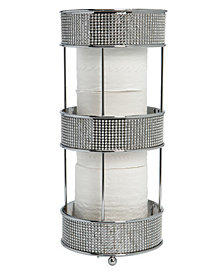 Bath Bliss Toilet Paper Holder in Pave Diamond Design