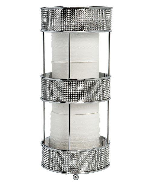 Bath Bliss Toilet Paper Holder in Pave Diamond Design