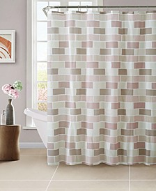 Beige Tile Design Shower Curtain