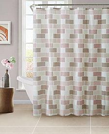 Bath Bliss Beige Tile Design Shower Curtain