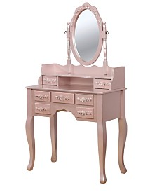 Torri Traditional Vanity with Stool, Quick Ship