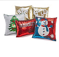 Hallmart Collectibles Holiday Sequin Decorative Pillow Collection