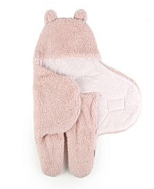 Tadpoles Sherpa Teddy Bear Swaddle Wrap