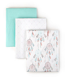 Tadpoles S, 3 Muslin Receiving Blankets Dream Catcher