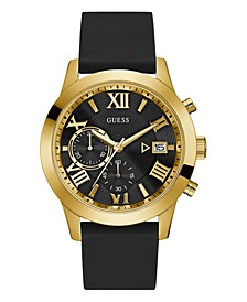 Men's Black Silicone Watch 50MM, Created for Macy's