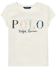 Polo Ralph Lauren Big Girls Logo Graphic Cotton T-Shirt