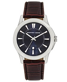 Navy Dial Brown Chroco Strap Watch