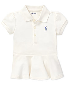 Polo Ralph Lauren Baby Girls Peplum-Hem Cotton Polo