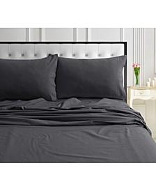 170-GSM Ultra-Soft Cotton Flannel Solid Extra Deep Pocket Queen Sheet Set