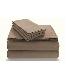 Tribeca Living Flannel 170-GSM Cotton Solid Extra Deep Pocket Full Sheet Set