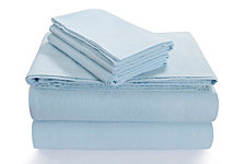Tribeca Living Flannel 170-GSM Cotton Solid Extra Deep Pocket King Sheet Set