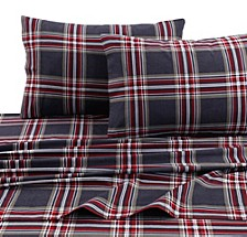Heritage Plaid 5-ounce Flannel Printed Extra Deep Pocket Cal King Sheet Set