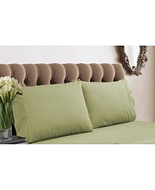 Tribeca Living 350 Thread Count Cotton Percale Standard Pillowcases
