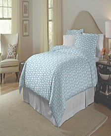 200 Thread Count Cotton Percale Printed Duvet Set Twin Twin XL