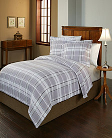 Pointehaven Jensen Print Luxury Size Cotton Flannel Duvet Set King Cal King