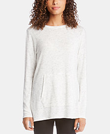 Karen Kane Side-Slit Kangaroo-Pocket Top