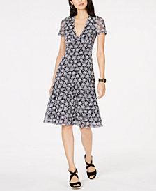 MICHAEL Michael Kors Embroidered-Mesh Dress
