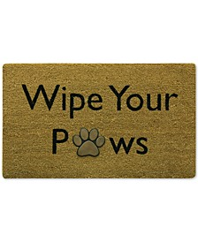 "Wipe Your Paws 18"" x 30"" Doormat"