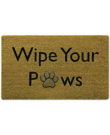 "Bacova Wipe Your Paws 18"" x 30"" Doormat"