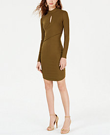 GUESS Larkin Ribbed Cutout Bodycon Dress