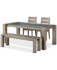 Closeout! Sava Dining 4-Pc. Set (Table, 2 Side Chairs, & Bench), Created for Macy's