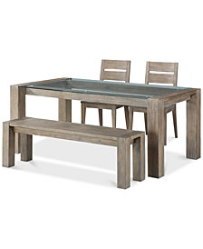Sava Dining Furniture, 4-Pc. Set (Table, 2 Side Chairs, & Bench), Created for Macy's