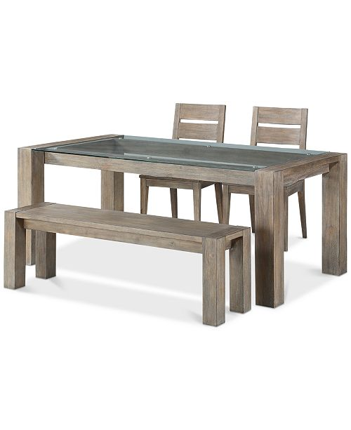 Furniture Closeout! Sava Dining Furniture, 4-Pc. Set (Table, 2 Side Chairs, & Bench), Created for Macy's