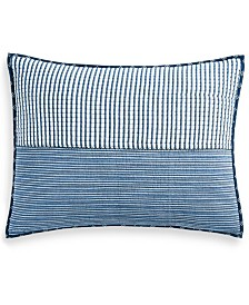 Martha Stewart Collection Nautical Stripe Standard Sham, Created for Macy's