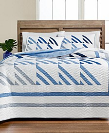 Nautical Sails Quilt and Sham Collection, Created for Macy's
