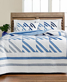 Martha Stewart Collection Nautical Sails Quilt and Sham Collection, Created for Macy's
