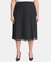 a0e4824c12c Calvin Klein Plus Size Pleated A-Line Skirt