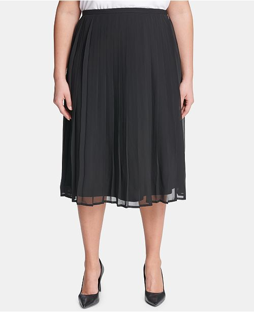 372d5a2799 Calvin Klein Plus Size Pleated A-Line Skirt & Reviews - Skirts ...