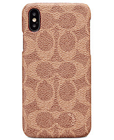 COACH Signature Molded iPhone X/Xs Case