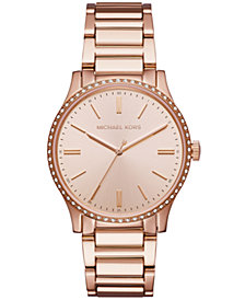 Michael Kors Women's Bailey Rose Gold-Tone Stainless Steel Bracelet Watch 38mm
