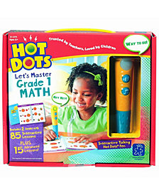 Educational Insights Hot Dots Let's Master Grade 1 Math Set With Talking Pen