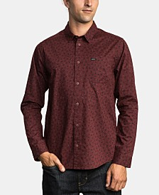 RVCA Men's Vu Slim-Fit Floral-Print Shirt