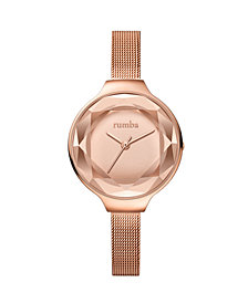RumbaTime Orchard Gem Mesh Rose Gold Women's Watch