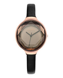 RumbaTime Orchard Gem Leather Women's Watch Black