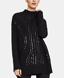 BCBGMAXAZRIA Sequinned Turtleneck Sweater