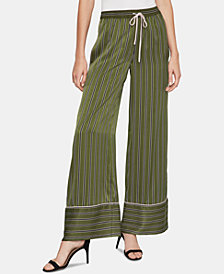 BCBGMAXAZRIA Striped Satin Pajama Pants