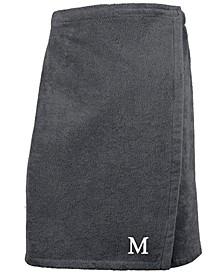 100% Turkish Cotton Terry Personalized Men's Bath Wrap - Dark Grey