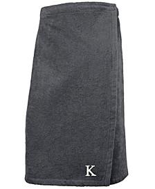 100% Turkish Cotton Terry Personalized Women's Bath Wrap - Dark Grey