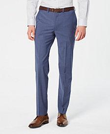 DKNY Men's Modern-Fit Stretch Blue Mini-Check Suit Pants