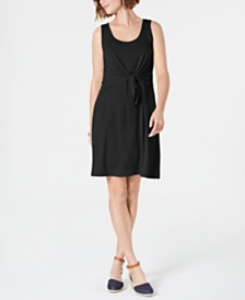 Style & Co Petite Sleeveless Tie-Front Dress, Created for Macy's