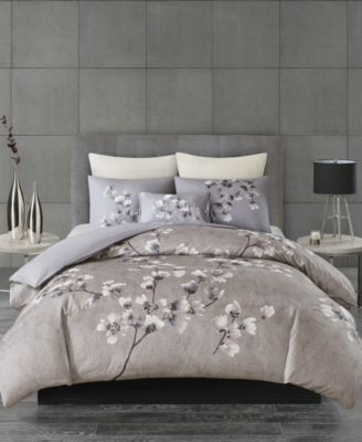 Sakura Blossom Full/Queen 3 Piece Cotton Sateen Printed Comforter Set