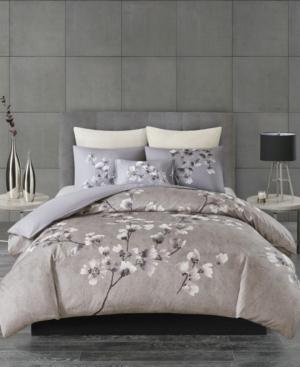 Image of N Natori Sakura Blossom Full/Queen 3 Piece Cotton Sateen Printed Comforter Set Bedding