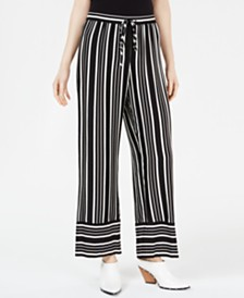 Trina Turk Adonia Striped Wide-Leg Pants